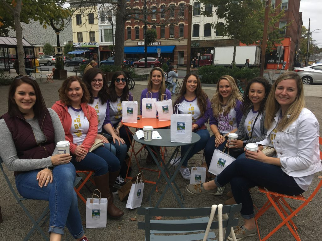 Bachelorette food tour with goodie bags