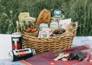 picnic basket of local food delivery